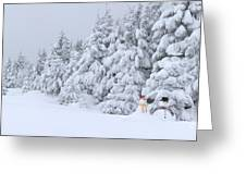 Snowmen In France Greeting Card