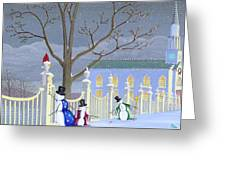 Snowmen In Vermont Greeting Card by Thomas Griffin