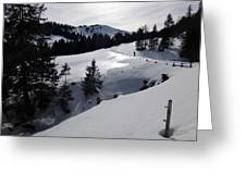 Snowshoeing Switzerland's La Berra Greeting Card