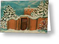 Snowstorm In Santa Fe Greeting Card
