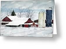 Snowstorm Greeting Card