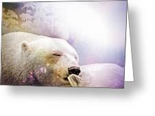 Snowstorm Kisses Greeting Card