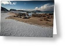 Snowy Beach Greeting Card