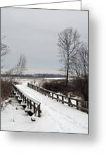 Snowy Bridge Greeting Card