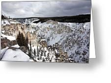 Snowy Canyon Greeting Card