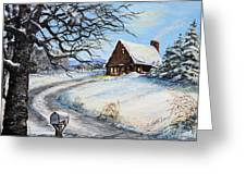 Snowy Chalet Greeting Card