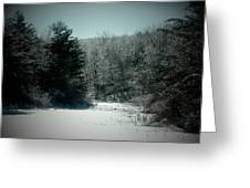 Snowy Creek Bend Greeting Card