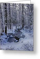 Snowy Creek Greeting Card