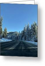Snowy Drive Greeting Card