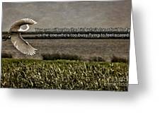Snowy Egret Inspirational Quote Greeting Card