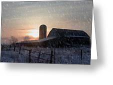 Snowy Farm Greeting Card