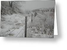 Snowy Fenceline Greeting Card