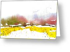 Snowy Field Greeting Card