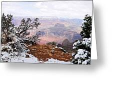 Snowy Frame - Grand Canyon Greeting Card