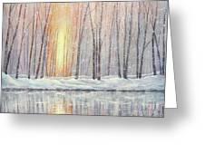 Snowy Glow Greeting Card