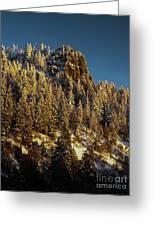 Snowy Hobart Bluff  Greeting Card