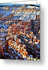Snowy Hoodoos Greeting Card