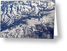 Snowy Landscape Aerial Greeting Card