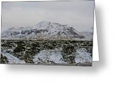 Snowy Lava Fields Iceland Greeting Card