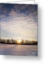 Snowy Michigan Morning Greeting Card