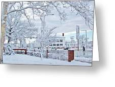 Snowy Morning Greeting Card