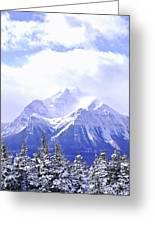 Snowy Mountain Greeting Card by Elena Elisseeva