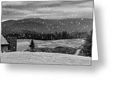 Snowy Mountain Farm Greeting Card
