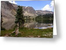 Snowy Mountain Loop 1 Greeting Card