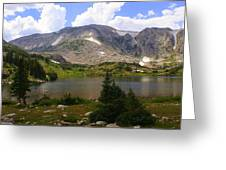 Snowy Mountain Loop 9 Greeting Card