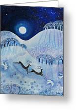 Snowy Peace Greeting Card