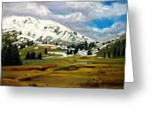 Snowy Peaks Greeting Card