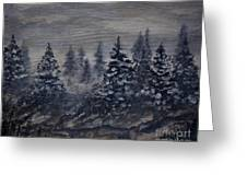 Snowy Pines Greeting Card