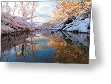 Snowy Refections Greeting Card