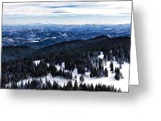Snowy Ridges - Impressions Of Mountains Greeting Card