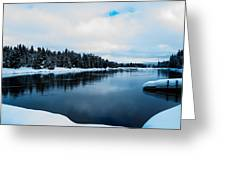 Snowy River Banks Greeting Card