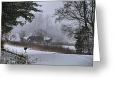 Snowy Road 2 Greeting Card