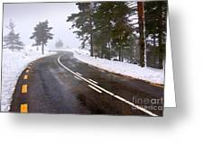 Snowy Road Greeting Card
