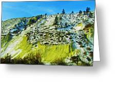 Snowy Rock Mountain Greeting Card