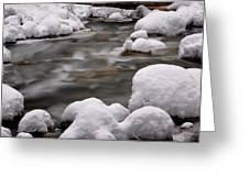 Snowy Stickney Brook Greeting Card