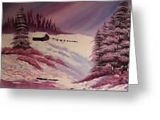 Snowy Summer Greeting Card