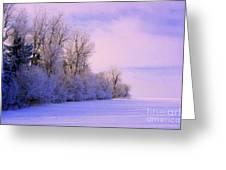 Snowy Sunday Greeting Card