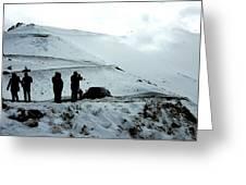 Snowy Switchbacks On Pikes Peak Greeting Card