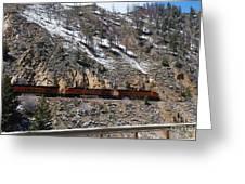 Snowy Train Greeting Card