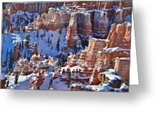 Snowy Turrets Greeting Card