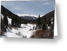 Snowy Valley Greeting Card