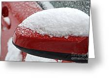 Snowy Wing Mirror Greeting Card
