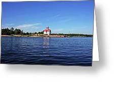 Snug Harbour Lighthouse Greeting Card