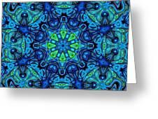 So Blue - 04v2 - Mandala Greeting Card
