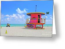 Sobe Lifeguard Greeting Card