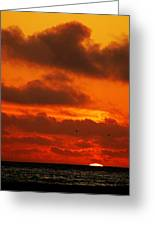 Socal Sunset Greeting Card